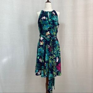 Tahari ASL Floral Sleeveless Dress